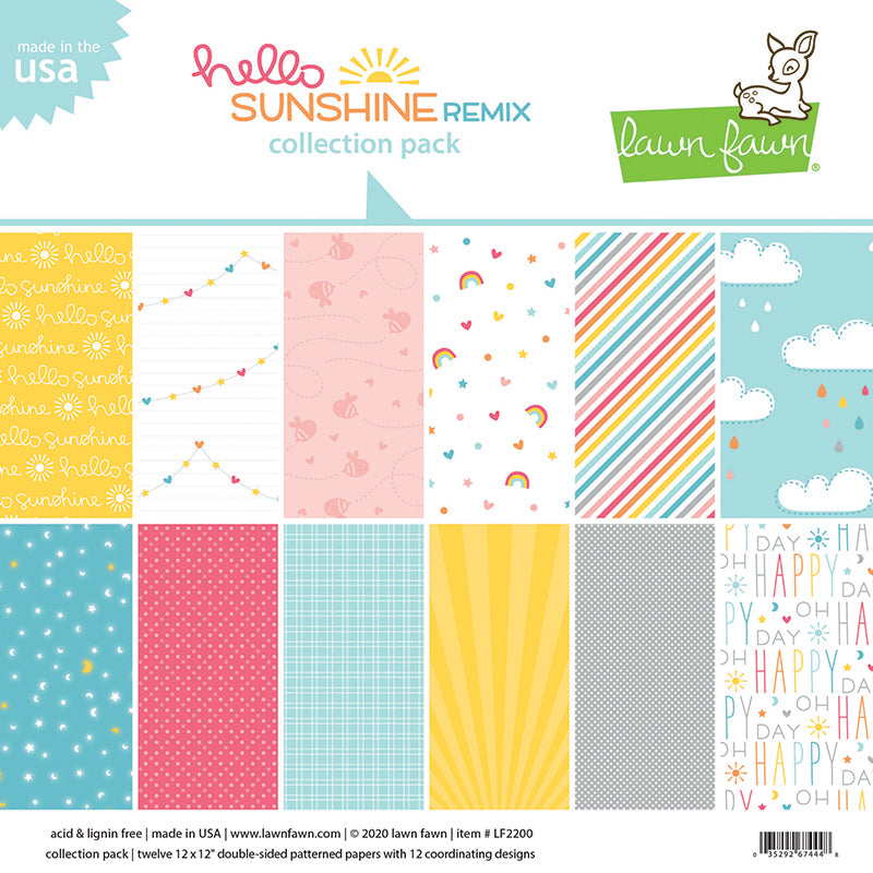 Lawn Fawn Hello Sunshine 12 x 12 Collection Pack