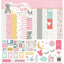 Load image into Gallery viewer, Photoplay Paper SNUGGLE UP GIRL 12 x 12  Collection Pack, Ephemera, Solids Pack
