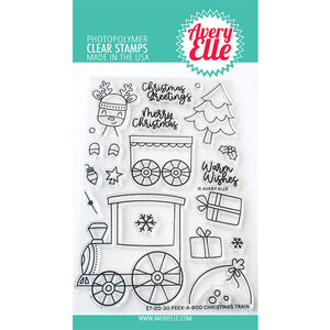 Avery Elle Christmas Train Stamp and Die