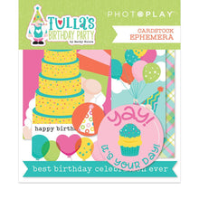 Load image into Gallery viewer, Photoplay Tulla's Birthday Party 12 x 12 Collection Pack, Ephemera, Stamp, Die, Element Paper