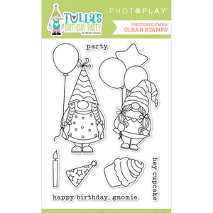 Photoplay Tulla's Birthday Party 12 x 12 Collection Pack, Ephemera, Stamp, Die, Element Paper