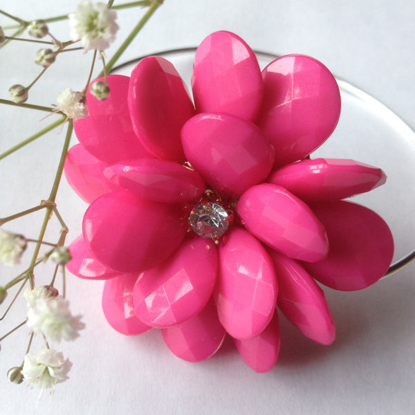 Pink Daisy - Skinny Bangle