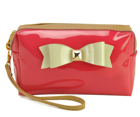"""Watermelon Red"" Cosmetic purse"