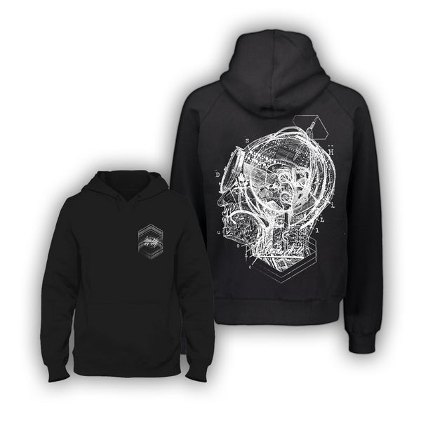 "Clouds Hill ""Hidden Speculations"" - DIVER (Black) Hoodie"