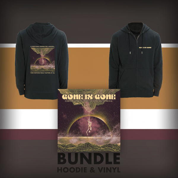 Gone Is Gone - If Everything Happens For A Reason...Then Nothing Really Matters At All - Gold LP + Black Hoodie