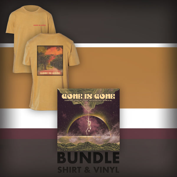 Gone Is Gone - If Everything Happens For A Reason...Then Nothing Really Matters At All - Gold LP + Yellow T-Shirt