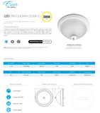 "11"" Indoor Round LED Ceiling Light 
