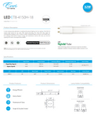 4ft. T8 Hybrid A&B LED Lamp 18W 2160 lumens | Led Lights