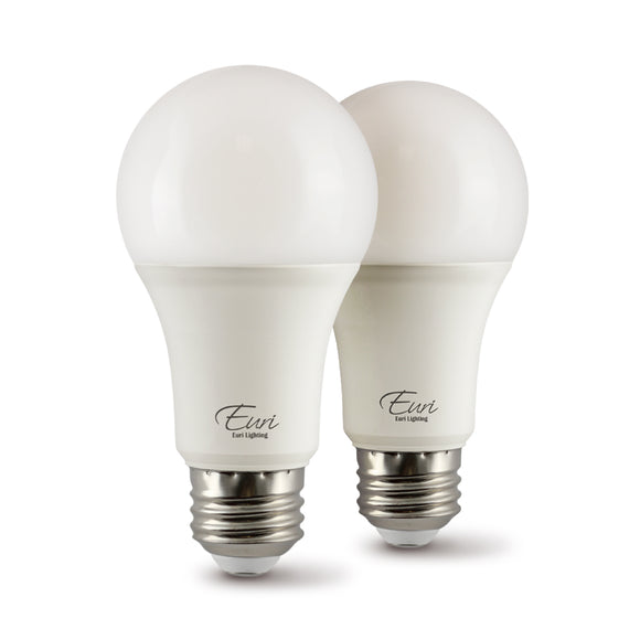 A19 LED BULB 75 WATT REPLACEMENT (2)-PACK ($2.59 EACH), - 4000K - ENERGY STAR - CEC - 90+ CRI - DIMMABLE- FULL ENCLOSED RATED - 1100 LUMENS