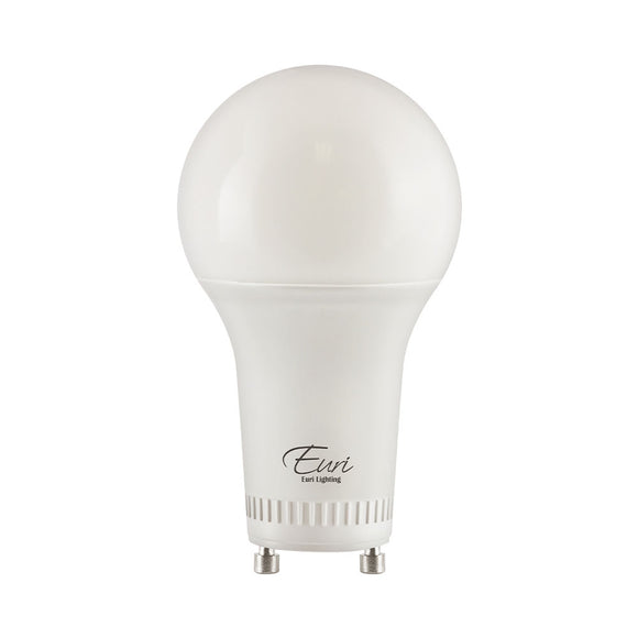 60 Watt replacement A19 LED Bulb <b> (2-pack $1.75 each) </b>  -GU24 Base - <b>3000K</b> - 800 lumens -Energy Star - Enclosed Fixture Suitable.