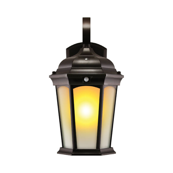 LED Flame Wall Lantern (life like flickering motion) Frosted Glass | Wall Lights