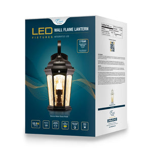 Open Box LED Flame Lantern 30 Day Warranty | Wall Lights