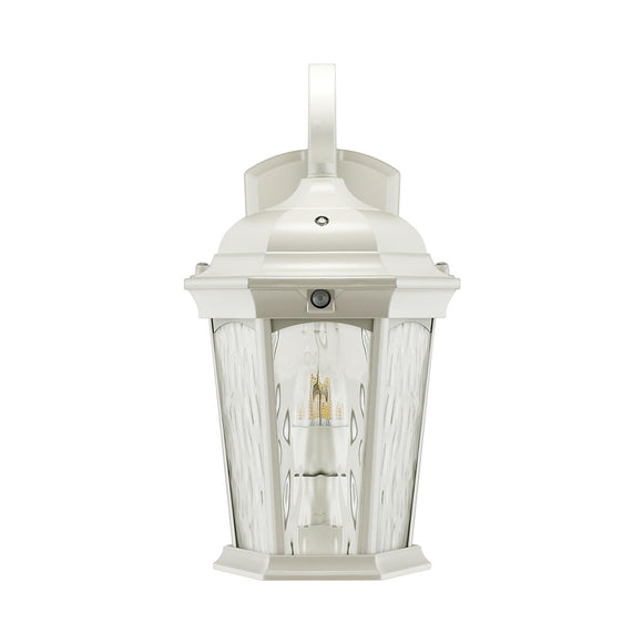 LED Flame Wall Lantern (life like flickering motion) White Finish | Wall Lights
