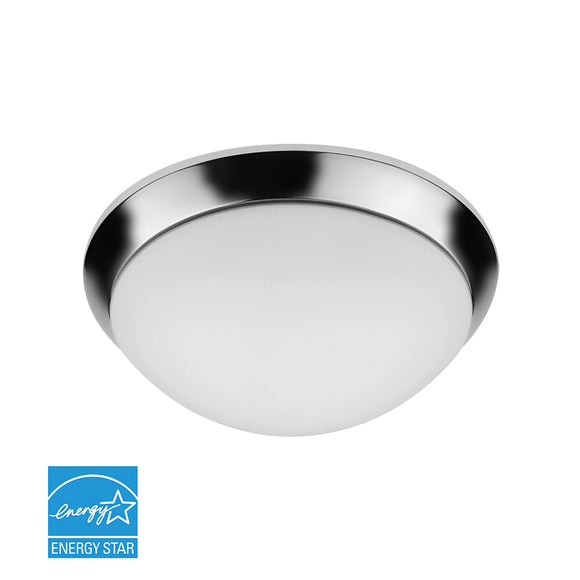 "15"" Indoor Round LED Ceiling Light W/Chrome Bezel & Frosted Glass Lens 