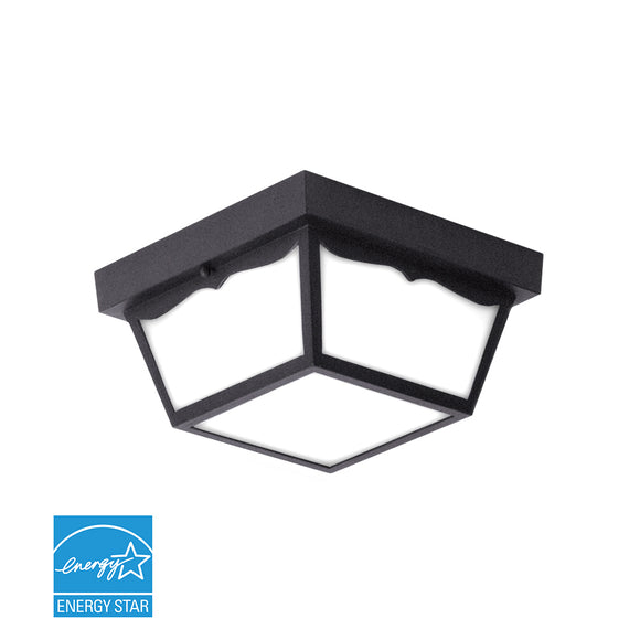 "10"" Outdoor Trapezoidal LED Ceiling Light 