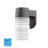 Jelly Jar LED Wall Outdoor Lantern - Matte Black  - 5000K with Bulb | Wall Lights