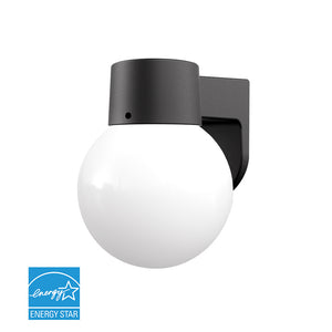 Open Box Globe Outdoor LED Wall Light W/Matte Black- 5000K | Wall Lights