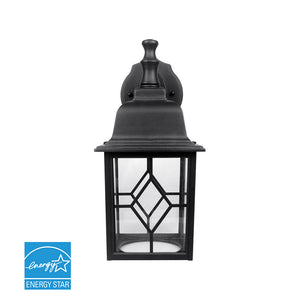 Matte Black Outdoor Integrated LED Wall Lantern Sconce | Wall Lights
