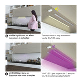 Disinfecting UV-C Light and Cabinet Light with Safety Sensor