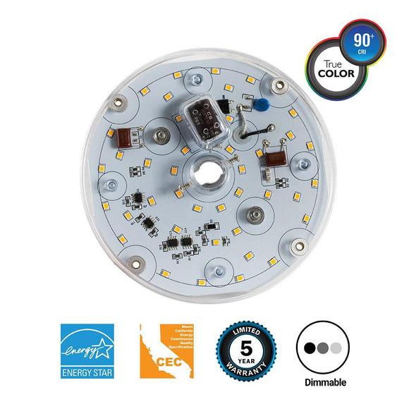 100-Watt Equivalent 5.7 in. Round Multi-Purpose Retrofit LED Light Engine in Softy White <b>(3000K)</b>