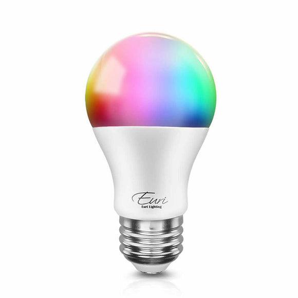Smart WiFi Light A19 Bulb Multicolor and Dimming Adjustable - Works with Amazon Alexa and Google Assistant | Smart Wifi Led Bulbs