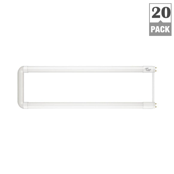 15-Watt 4000K & 5000K U-Shaped Linear T8 LED Hybrid Tube Light Bulb <b>20-Pack $11.99 each</b>