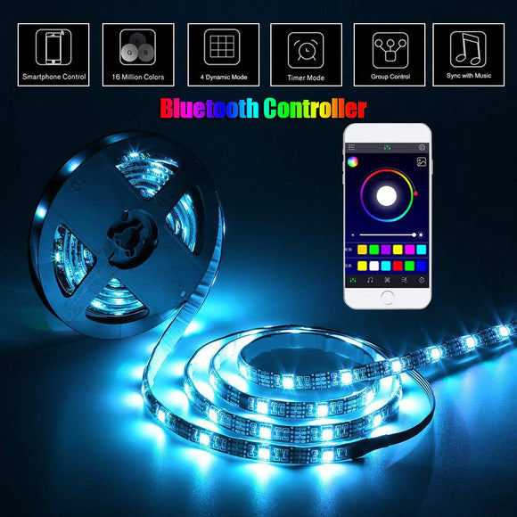 USB Cabinet Lamp RGB LED Light Strip lampy Backlight TV PC Lighting Music/RF/Bluetooth Controller DC5V SMD 5050 LED Lamp lampada | USB Cabinet Lamps