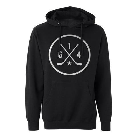 614 Hockey Black Lightweight T-Shirt Hoodie