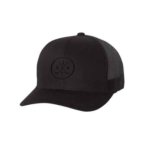 614 Hockey Black-on-Black Hat