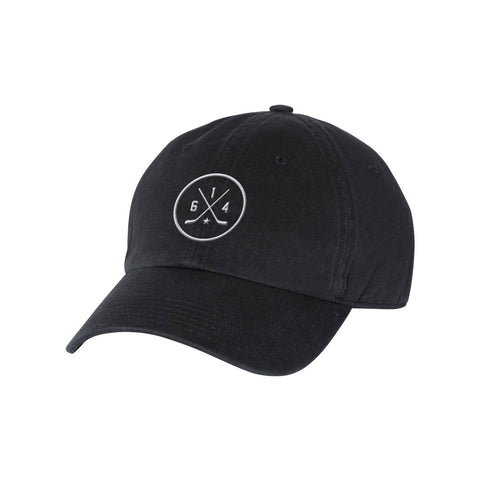 614 Hockey Black Dad Hat
