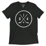 614 Hockey Black Logo Tee