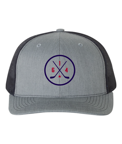 614 Hockey Original Navy Mesh Back Hat