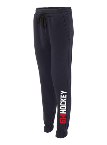 614 Hockey Original Wordmark Navy Fleece Joggers