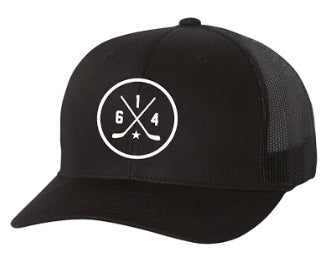614 Hockey Black Hat