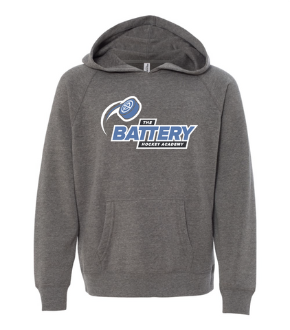 The Battery Hockey Academy Grey Hoodie