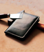 Mens Leather Passport Wallet
