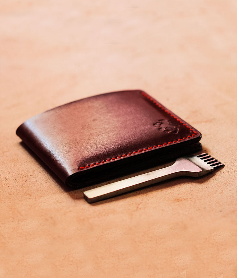Red Leather Wallet Mens