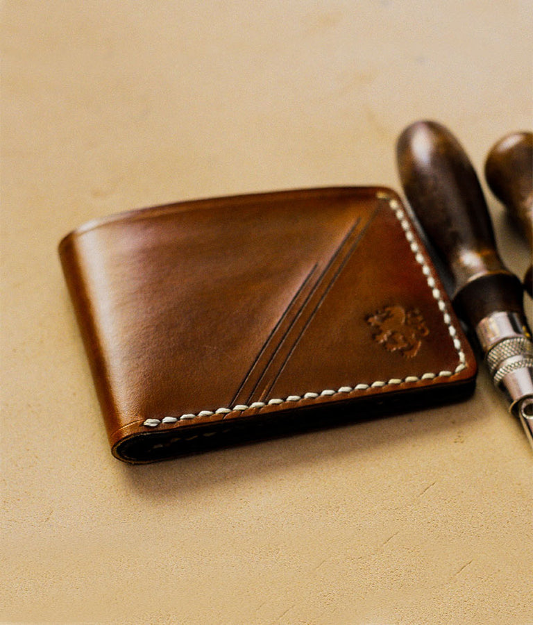 Vintage Leather Wallet Mens