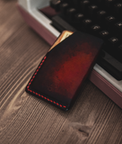 leather red wallet