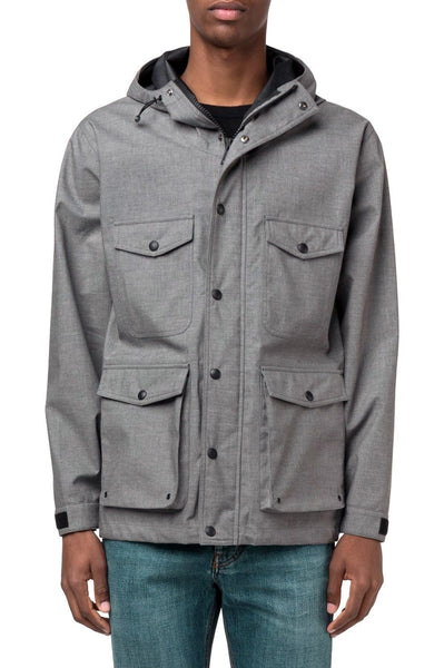 AMI Short Hooded Parka Grey - The Business Fashion - 2