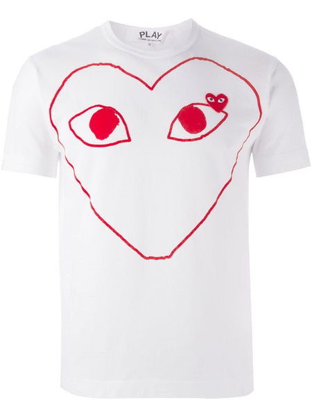 Play Heart Print T-Shirt