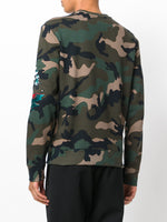 Valentino Patch Sweatshirt Camo
