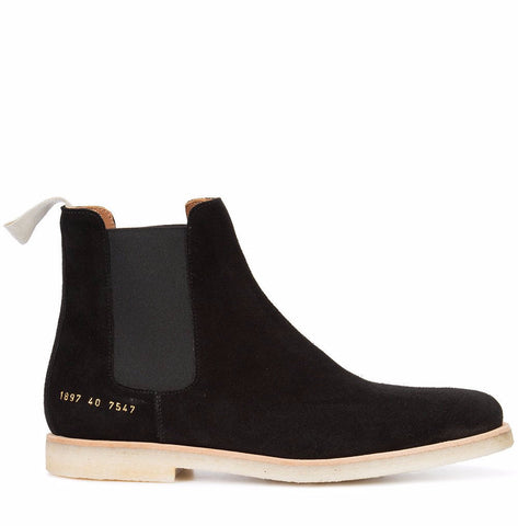 Common Projects Chelsea Boot in Suede 1897 Black