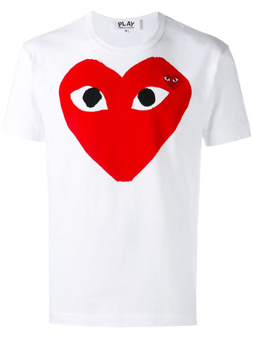 Comme des Garcons Play White Heart T-Shirt