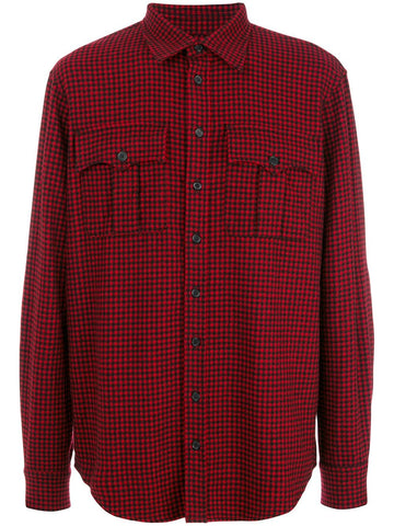 Dsquared2 Red Wool Checked Shirt
