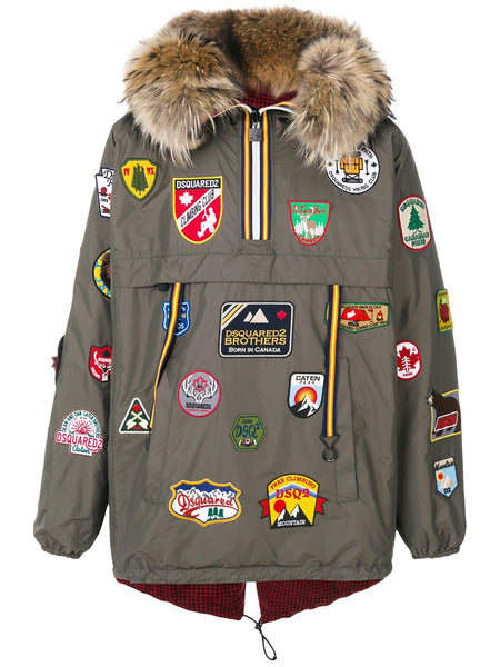Dsquared2 K-Way Travel Patch Wind Breaker