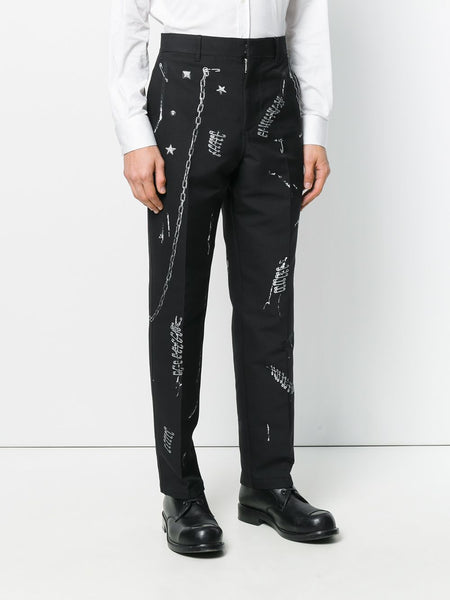 Alexander McQueen Safety Pin Print Trousers