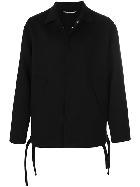 Wool Coach Jacket Black