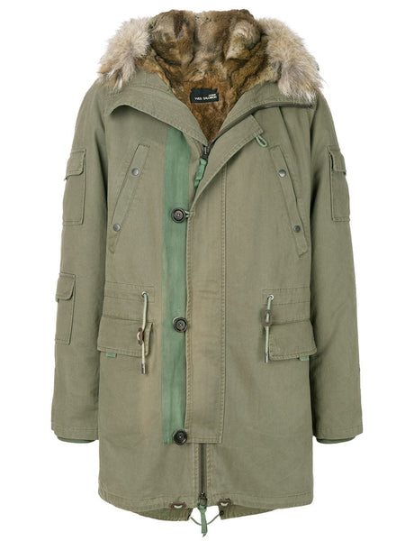 Fur-Lined Hooded Parka