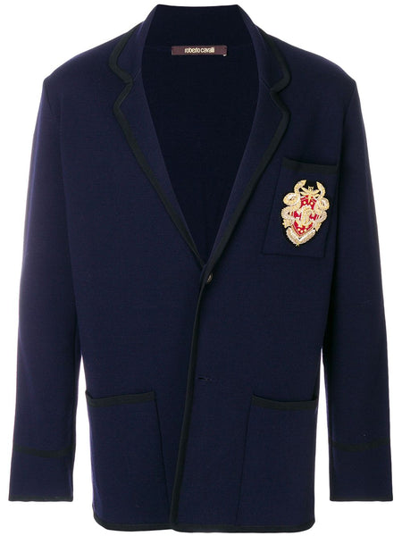 Wool Chest Navy Blazer